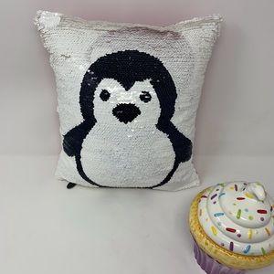 Pier 1 Penguin Accent Pillow